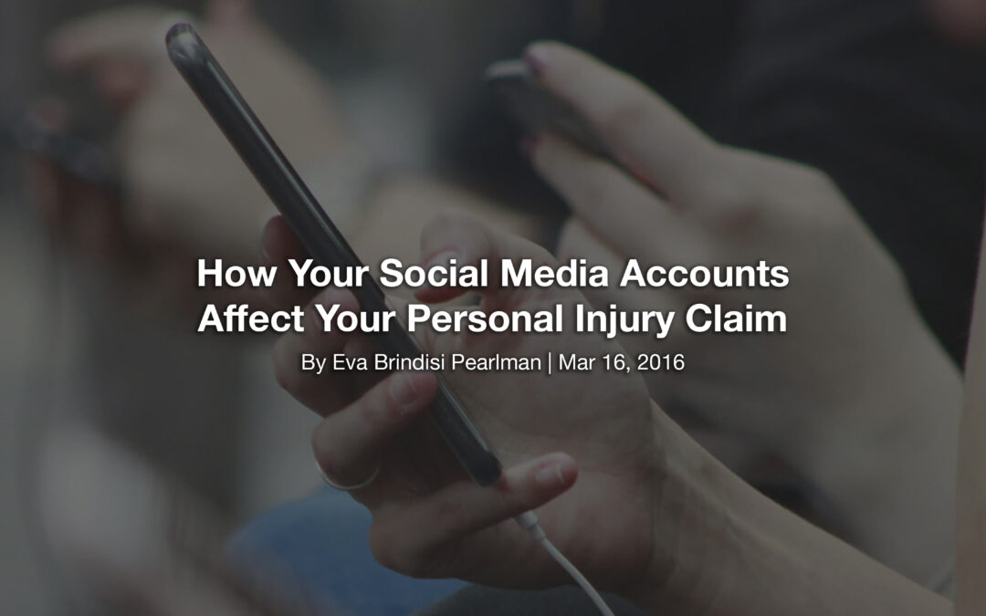 How Your Social Media Accounts Affect Your Personal Injury Claim