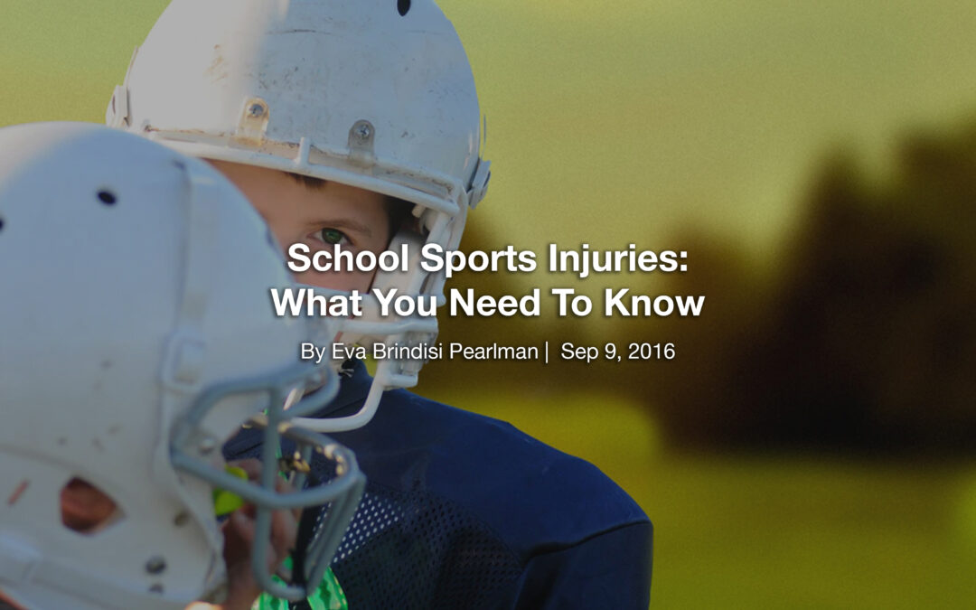 School Sports Injuries: What You Need To Know