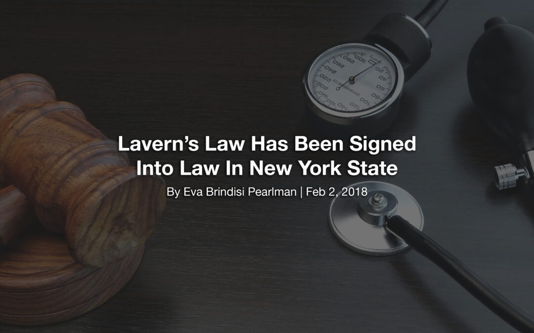 Lavern's Law Has Been Signed Into Law In New York State
